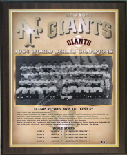 1954 Giants plaque