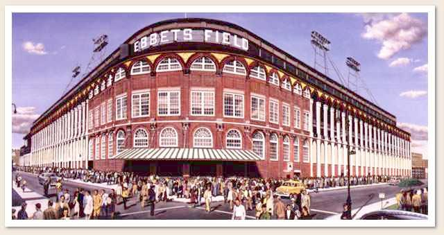 Outside Ebbets Field