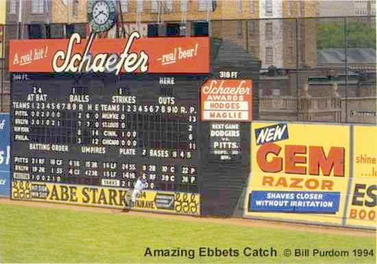 Ebbets Field Artwork By Bill Goff